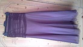 Pretty, size 12, brown net prom/bridesmaid's dress lined in pink.