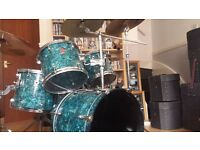 Premier 5 piece Drum Kit - Includes cymbals, stands & cases