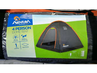 Aventura 4 Person Dome Tent & quechua a300 self inflating mattress