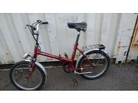 SOVERIGN VINTAGE FOLD-UP BIKE STURMY ARCHER 3 GEARS 20 INCH WHEEL AVAILABLE FOR SALE