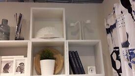 Ikea Cubed White Wall Shelves X 3