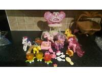 Large my little pony collection with accessories