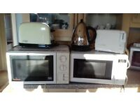 Micrwave x 2, Toasters x 2 + 1 Kettle