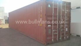 40ft high cube shipping containers - CSC plated, steel container, storage container, site container