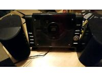 Mini CD player and radio