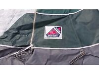 SOLD---Caravan Awning Dorema Size 6 (775cm-800cm) in Green canvas with Grey roof £50