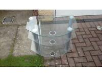 Sony glass console tv table