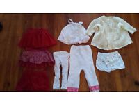 BABY GIRL BUNDLE OF CLOTHES x 8 GAP H&M HAND KNITTED SKIRT CARDIGAN SHORTS 9 - 12 Months 1 Year
