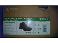 Hi-tec women's stormchaser black golf boots size 6 brand new and boxed