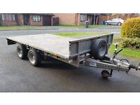 Ifor Williams LM126 Flat Bed Trailer 2012 Excellent Condition