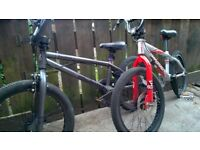 2 boys bmx bikes apollo with front disc brake and voodoo both 20 inch wheels