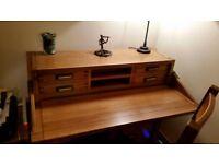 Gentlemans Desk for sale in light oak from Barker & Stonehouse