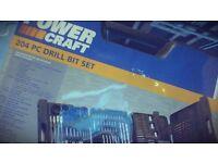 BRAND NEW POWER CRAFT 204 PC DRILL BIT SET