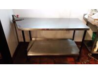 Stainless Steel Commercial CATERING Table Worktop with Can Opener