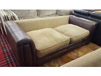 2X Two seat Leather Sofas