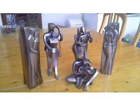 Selection of bronze finish sculptures