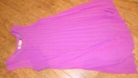 Gorgeous Pink pleated chiffon swing dress - size 10