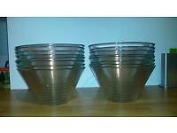 Ikea glass serving bowls