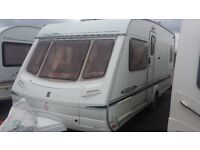 FIXED BED CARAVAN. LOVELY 2003 ABBEY 540 CRIS REGISTERED. FULL AWNING & EVERYTHING NEEDED FOR HOLS.