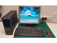 SMALL ACER DESKTOP PC WITH WIFI quadcore 320gb hdd