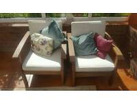 2 conservatory chairs
