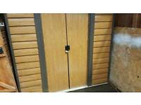 Wood effect metal shed 6x5