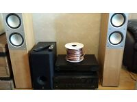 YAMAHA AMP AND SPEAKER SET---£145