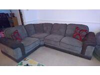Corner sofa and swivel chair