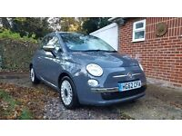 2012 Fiat 500 TwinAir Lounge Grey 11 Months MOT Full Service 1 Owner From New £0 Tax