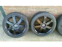 "Mondeo, focus, galaxy, transit connect titanium x 18"" alloy wheels"