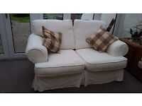 Two Seater Sofa with removable/ washable covers