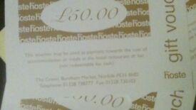 £500 worth of Gift Vouchers for The Hoste Spa Hotel, Burnham Market