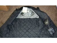 Barbour International Legion Bonner Wax Jacket, Black, Size Medium