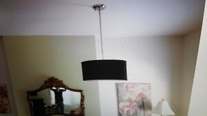 3 light pendant with drum shade