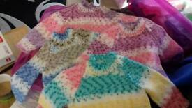 Beautiful knitted baby jumpers