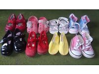 Girls Size 4 shoe bundle including Clarks, Converse and Next