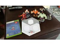 Disney Infinity 2.0 XBox 360 Game, Portal, and 6 Figures