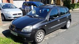 Renault Clio 1.5 dci 2003 RECENT MOT £20 A YEAR ROAD TAX