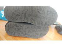 Bearpaw Tall Sheepskin Boots Size 7 Black