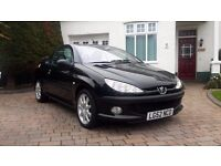 Peugeot 206 cc, 2.0, 3 Owners, 11 Months MOT, Rare Cream/Grey Leather Interior, Convertible (52 reg)