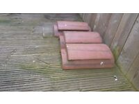 vented ridge roof tile in red 3 for £60