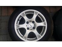 15 inch excellent condition Alloys with good tyres. 4 stud 4 × 108. Ford Peugeot citreon and more