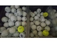 Various golf balls, general play or practice.