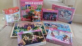 Bundle of Jigsaw Puzzles incl. Hello Kitty and Disney Princesses. Excellent condition