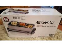 Elgento 3 Tray Buffet Server and Hot Plate £25