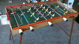 Football Table with folding legs for easy storage