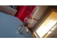 VINTAGE CLEAR GLASS PATTERN BOWL PARAFFIN OIL LAMP HARDLY USED HOME DECOR DISPLAY PROP USE VGC