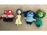 Inside out talking light up toys, sadness, anger, joy and disgust