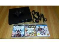 PS3 SLIM & 3 GAMES