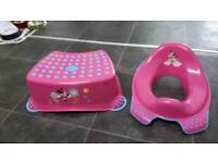 Minnie mouse Stool and toilet seat.